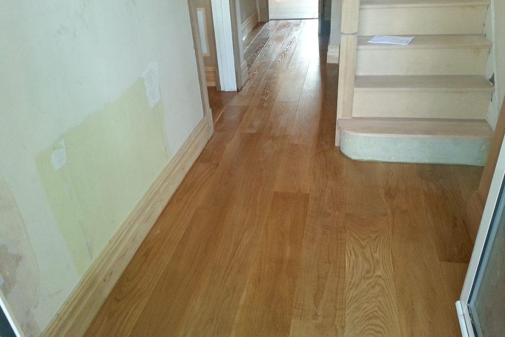 Fitting of Oak Floor Planks