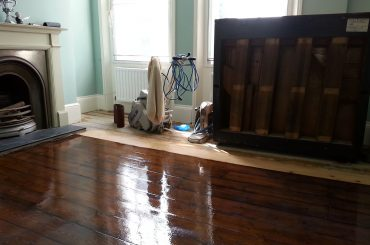 Staining Floor Boards