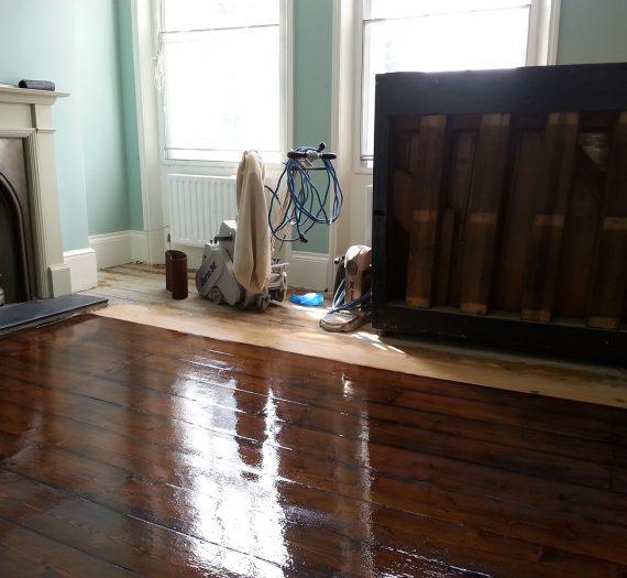 Staining Floor Boards