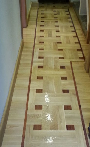 Basket Weave Parquet Flooring Installation