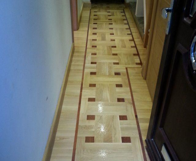 Basket Weave Parquet Flooring Installation